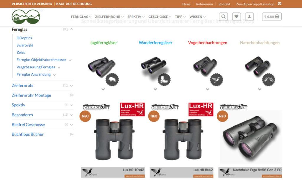 DDoptics Shop - Fernglas, Spektiv, Zielfernrohr - kaufen